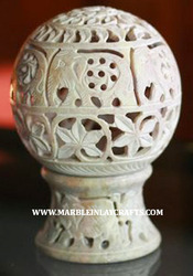 Soapstone Decorative Candle Holder