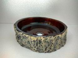 Wood Trunk Clear Brown Wash Basins