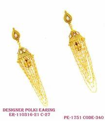 Polki Antique Earring
