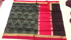 Flower Designer Kora Silk Saree