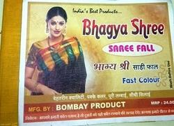 bhagya shree cut saree fall