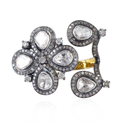 Designer Rose Cut Diamond Finger Ring