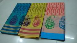 printed soft kota saree with mercerized cotton
