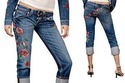 Ladies Embroidery Jeans