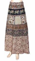 Bagru Print Cotton Wrap Skirt