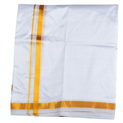Warrior Dhoti and Angavasthra - Cotton and Art Silk Dhoti