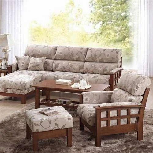 Living Room Sofa Set   Wooden Checks Sofa Set Manufacturer From Chennai