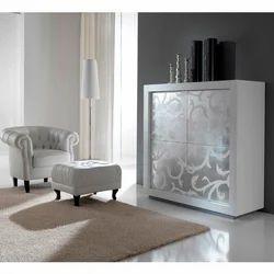 P2 Bianco Ante Barocco Console Table
