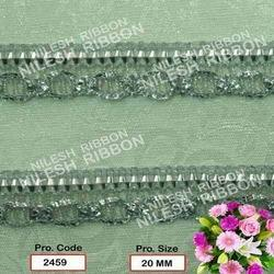 silver fancy saree lace