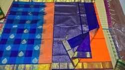 Pure Silk Cotton Partly Pallu Saree