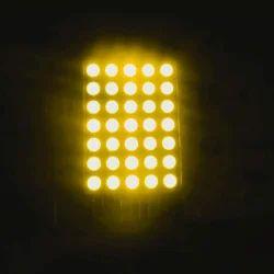 1英寸5x7 LED点矩阵显示琥珀色