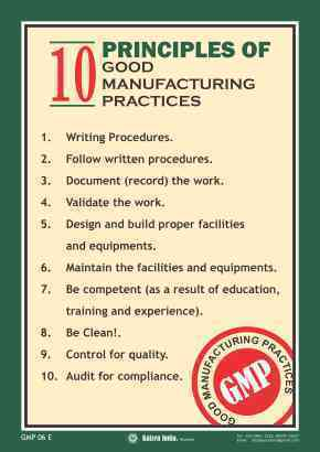 Good Manufacturing Practices Gmp Posters Nirapad
