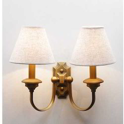 Harlotte White Metal Double Wall Light
