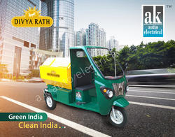 divya rath battery operated garbage rickshaw