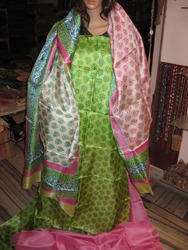 K Airy Designer Tussar Silk Suit