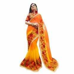 Multicolor Fancy Designer Saree
