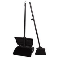 dust pan with broom