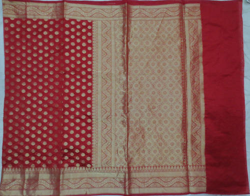 Designed Cotton Zari Saree
