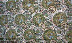 Geometric Circles Block Printed Fabric