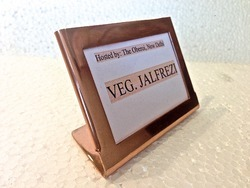 Copper Finished Window Menu Stand