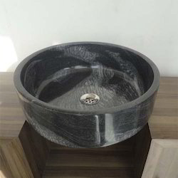 Black Tall Round Basin