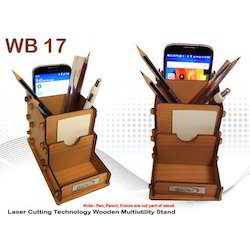 Wooden Multi User Pen Stand