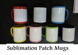 Sublimation Patch Mugs - Color Patch Mugs