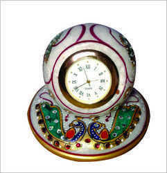Hand Painted Marble Decorative Clock