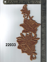 Fancy and Decorative Gold Zari Patch