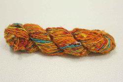 Multi Colored Sari Silk Yarns In Solid Colors