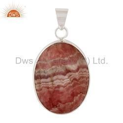 Natural Gemstone Silver Pendant