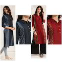 Slub Silk Stylish Jacquard Kurta