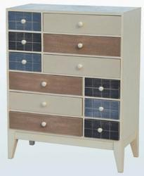 12 drawer chest bamboo wood