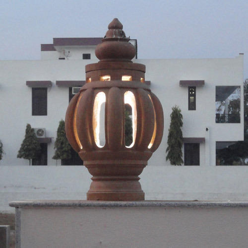 Stone lamp posts gardens sand stone lamp post manufacturer from outdoor gate light post mozeypictures Image collections