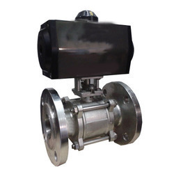 Double Acting Pneumatic Actuator Operated, 3 PC Ball Valve