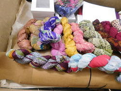 Patterned Sari Silk Ribbons For Yarn Stores