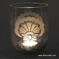 clear glass candle votive holders
