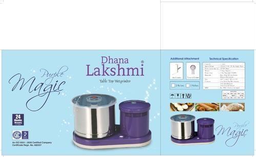 Dhanalakshmi Purple Magic Table Top Wet Grinder