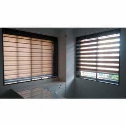 Designer Zebra Roller Blind  sc 1 st  Omkar Interiors & Door and Window Blinds - Designer Zebra Roller Blind Manufacturer ...
