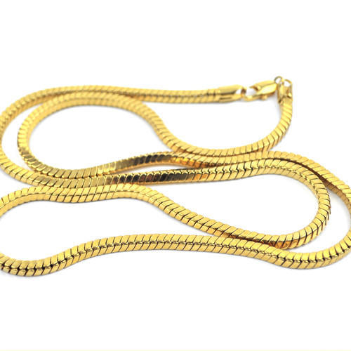 link with filled figaro yellow necklaces chains online square product chain piece store necklace gold white mens
