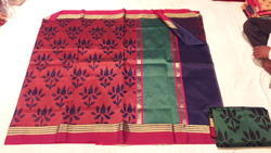 Designer Weaving Kora Silk Saree