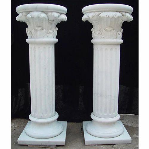 Indian Stone Pillar White Marble Pillar Manufacturer