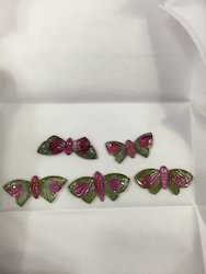 Watermelon Butterfly Carving - Gemstone