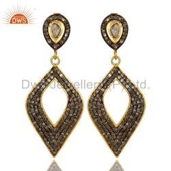 Womens Pave Diamond Earrings