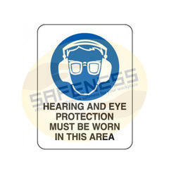 Hearing and Eye Protection Recommended Signs