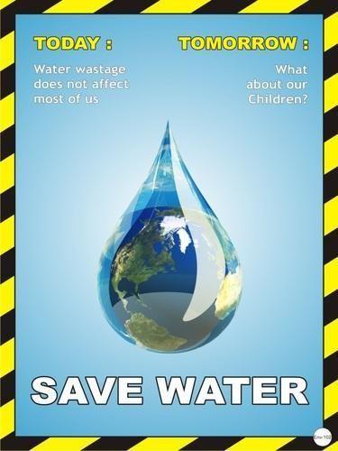 Nanotek Save Water Environment Posters Env 102 Nirapad