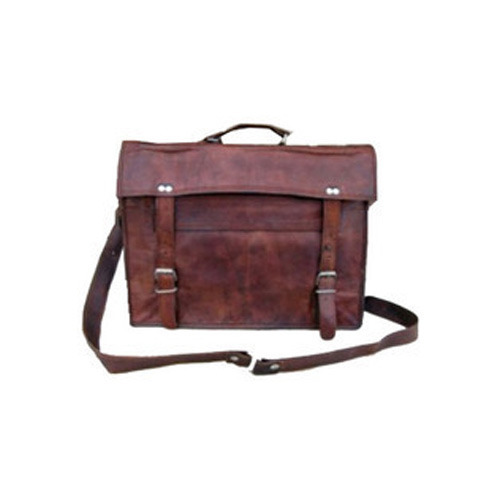 Genuine Goat Mens Flap Leather Bags
