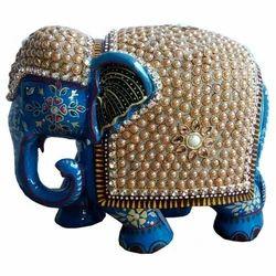 Wooden Meena Elephant