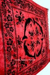Dolphin Printed Bed Sheets, Hand Loom Printed Indian Printed