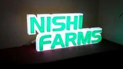 LED Acrylic Glow Sign Board